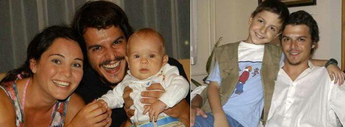 Мехмет Гюнсюр с женой и детьми