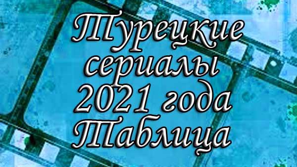 Дата выхода турецких сериалов 2021. Таблица