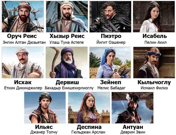 Братья Барбаросса - актеры сериала